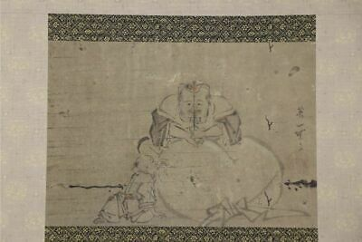 JAPANESE HANGING SCROLL ART Painting Hanabusa Itch Asian antique  #E9796