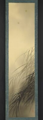 """JAPANESE HANGING SCROLL ART Painting """"Firefly"""" Asian antique  #E9786"""