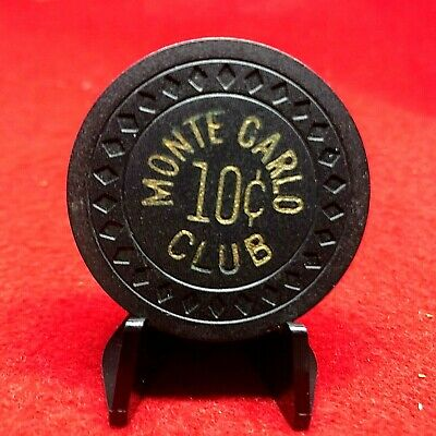 Fractional Monte Carlo Club Black Chip Very Good R5 Lv Hs 2 Iss 1945 Book $60