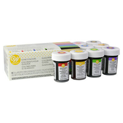 Wilton Icing Colour Edible Concentrated Food Colouring Gel 8 Colour Icing Set