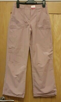 Brand New Next Girls Pink Lined Cargo Trousers Adjustable Waist Age 10 / 140 cms