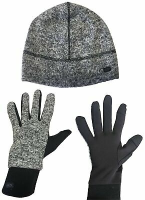 C9 Champion Women's Cap and Touch Screen Friendly Gloves Set (Black/White Marl)