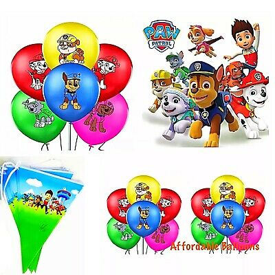 10 X Paw Patrol Puppy Pets Children/'s Birthday Party Printed Latex Balloons