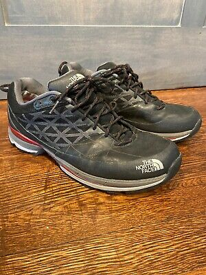 The North Face Mens Gore-Tex Vibram Black Red Hiking Trail Shoes Cradle Size 10