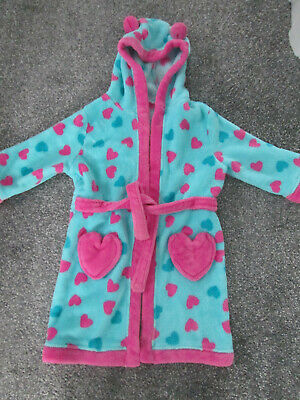 Girls Fleece Dressing Gown - Age 2-3 Years