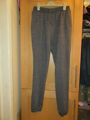 Next Girls Age 14 Years Sparkly Grey Trousers