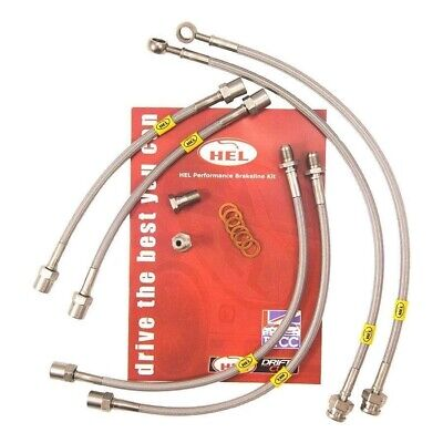 Stainless Steel Braided Brake Lines HEL Toyota Previa 2.4 2000-