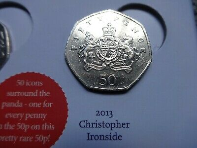 "COLLECTABLE 50p COIN ""CHRISTOPHER IRONSIDE"" FIFTY PENCE COIN HUNT 2013"