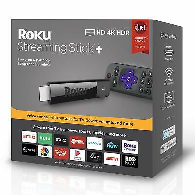 2019 Roku 4K Ultra HD HDR Media Streaming Stick+ with Voice Remote - 3810R