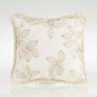 Glenna Jean Florence Floral Embroidery Throw Pillow Vintage Baby Girl Nursery