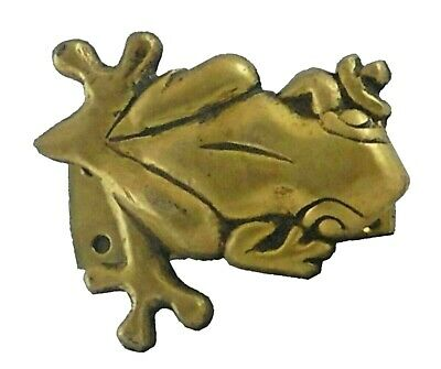 Golden Frog Design Vintage Antique Finish Handmade Brass Door Knocker Bell Knob