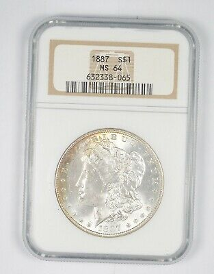 MS-64 1887 Morgan Silver Dollar - MS64 NGC *569