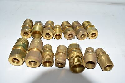 Mixed Lot of 14 Brass Couplings Fittings
