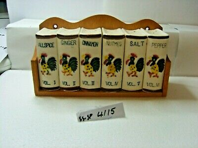 spice set books  salt and pepper shakers