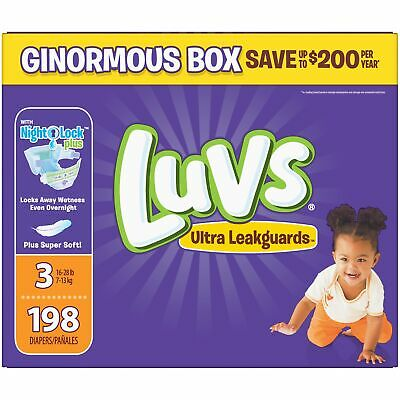 Luvs Ultra Leakguards Diapers Size 3 198 Count