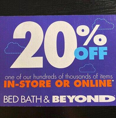 Bed Bath & Beyond 20% off 1 Item In-Store Or Online Coupon *** Exp 12/26/2019