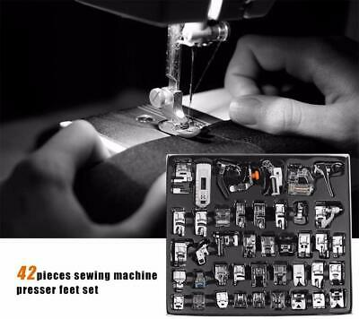 42PCS Sewing Machine Presser Foot Feet For Brother Singer Domestic Tool Kit Set