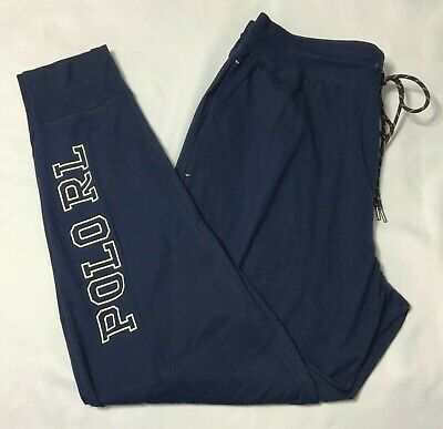 Ralph Lauren Polo Men's  jogger Lounge Pajama Pants Navy Size L XL NWT