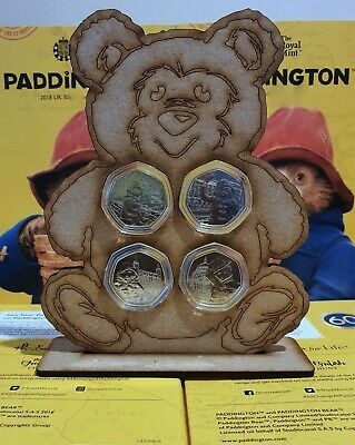 2018 & 2019 Paddington Bear 50p in Display Case 4 Coins CATHEDRAL TOWER Gift Set