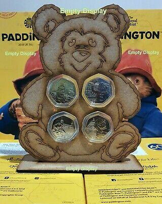 2018 & 2019 Paddington Bear 50p Display Case for all 4 Coins CATHEDRAL TOWER