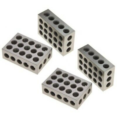 1-2-3 Blocks Matched 2 Pair 23 Holes (1 Inch X2 Inch X3 Inch) 123 Set Precision