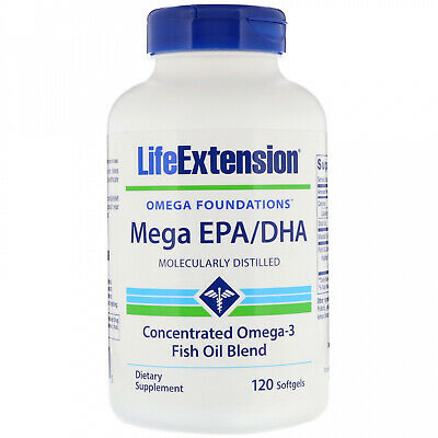 Life Extension, Omega Foundations, Mega EPA DHA, 120 Softgels