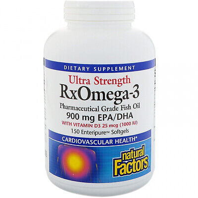 Natural Factors, Ultra Strength, RxOmega-3, With Vitamin D3, 900 Mg EPA DHA,