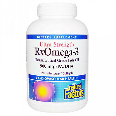 Natural Factors, Ultra Strength, RxOmega-3, 900 Mg EPA DHA, 150 Enteripure