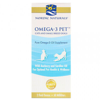 Nordic Naturals, Omega-3 Pet, Cats And Small Breed Dogs, 2 Fl Oz (60 Ml)