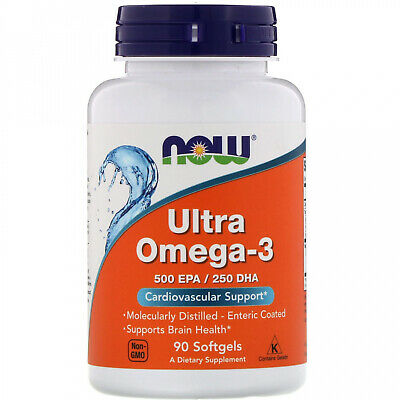 Now Foods, Ultra Omega-3, 500 EPA 250 DHA, 90 Softgels