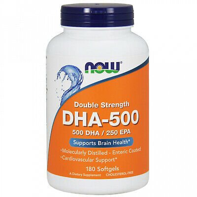 Now Foods, DHA-500 EPA-250, Double Strength, 180 Softgels