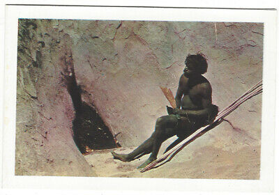 OLD CARD Aboriginal at Kalaio-Tjunda (Emu Leg) Waterhole Ayers Rock nd c1960's