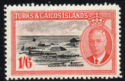 Turks & Caicos Islands 1/6 Stamp c1950 Mounted Mint