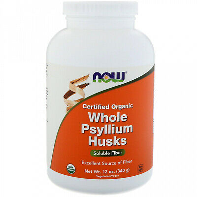 Now Foods, Certifed Organic Whole Psyllium Husks, 12 Oz (340 G)