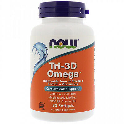 Now Foods, Tri-3D Omega, 330 EPA 220 DHA, 90 Softgels