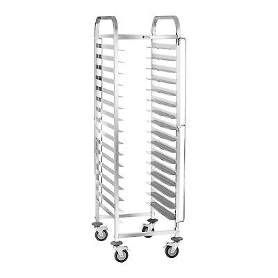 Commercial Catering 16 Tier Tray Trolley Stainless Steel Bakers Serving Cart