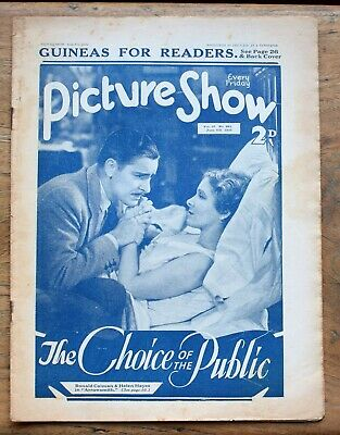 OLD FILM magazine - Picture Show for June 4th 1932
