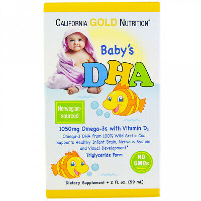 California Gold Nutrition, Baby's DHA, 1050 Mg, Omega-3s With Vitamin D3, 2 Fl