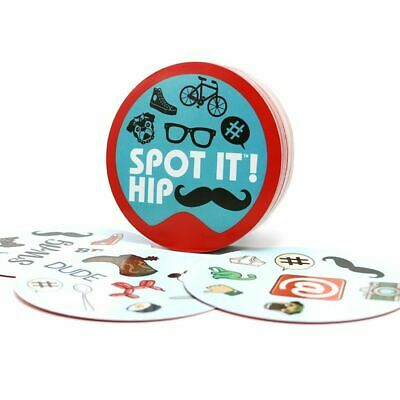 "NEW card game ""spot it hip"" for adult  home  party Dobble it board game NEW"
