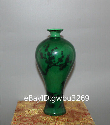 Asian Chinese Old porcelain hand painted Plum blossom birds Vase w Qianlong Mark