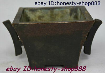 Chinese Xuande Dynasty Bronze Fengshui Incense Burner Censer Incensory Thurible