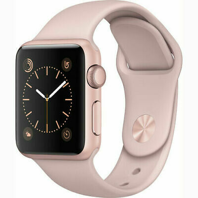 Apple Watch Series 1 38mm Rose Gold Case - Pink Sport Band