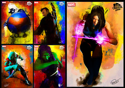 Topps Marvel Collect Daniel Murray Artwork Warrior [Set 5 Cards]