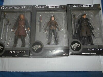 Game Thrones Trono di Spade lotto NED, ARYA, ROBB  figure Legacy