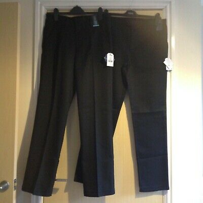 """Two pairs of black school trousers Unisex age 15 years leg 29""""/30"""" from next"""