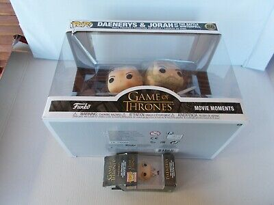 Game Thrones Trono di Spade lotto DAENERYS,DROGON,JORAH figure Funko Pop+card