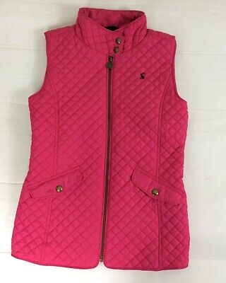 Joules Jilly  Girls Gilet Body Warmer Jacket Vest Age 11-12 Years Fuspink Zip Up
