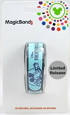 New Disney Vacation Club Member Blue Mickey Mouse Link It Later LR MagicBand 2.0