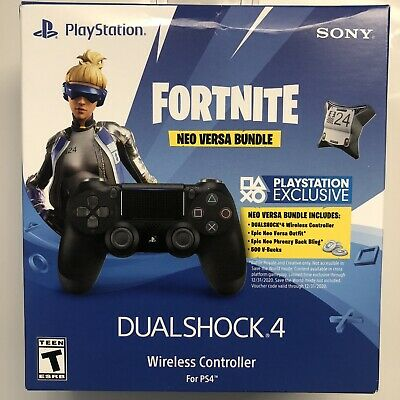 Sony PlayStation 4 DualShock Wireless Controller - Jet Black Fortnite Neo Versa