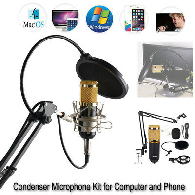 BM-800 Wired USB Studio Condenser Microphone Kit Tool For Computer Phone iphone